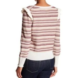 Joie Sweaters - JOIE Cais D Striped Cashmere Wool Blend Sweater L